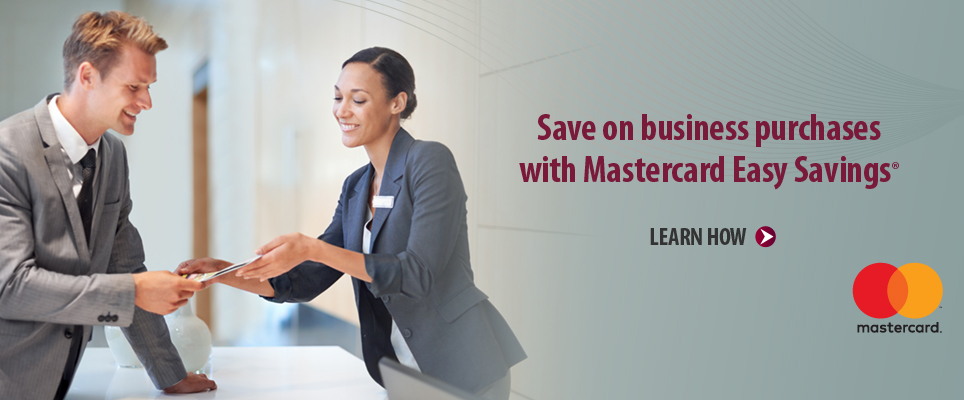 Save on business purchases with Mastercard Easy Savings